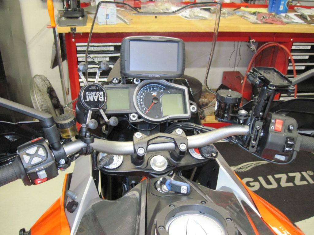 Spotlight On Special Projects And Unusual Or Collector Bikes Aprilia Fuse Box Gps Radar Detector Phone Mount